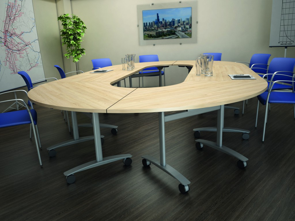Folding tables flexible tables with a designer feel the for Table pliable